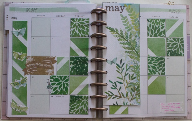 May Happy Planner monthly spread