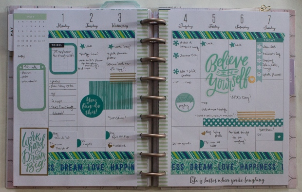 May 1-7 Happy Planner Spread