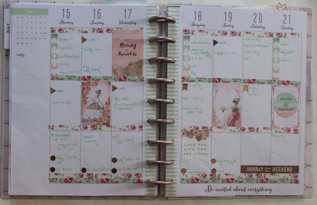 May 15-21 Happy Planner Spread