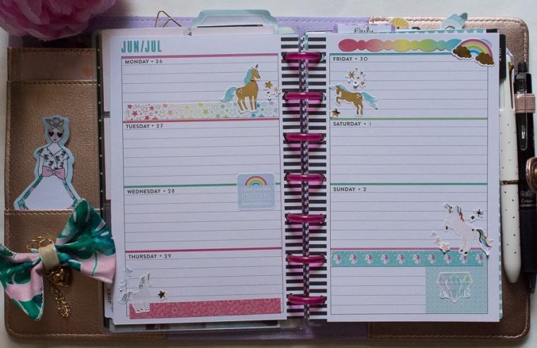 Mini Happy Planner June 26-July 2 | JM Creates