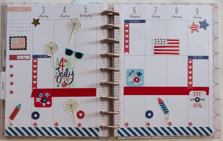 Happy Planner July 3-9 | JM Creates