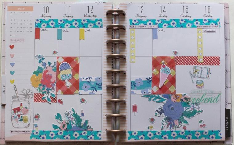 Happy Planner Weekly Spread July   JM Creates