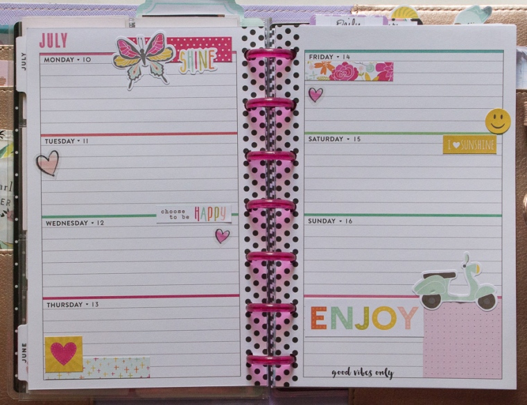 July Mini Happy Planner Weekly Spread   JM Creates