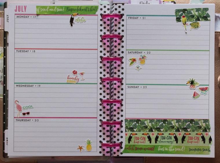 Mini Happy Planner Weekly Spread July | Jen Manis Creates Blog
