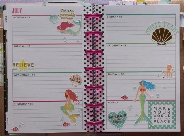 Mini Happy Planner mermaid weekly spread | JM Creates