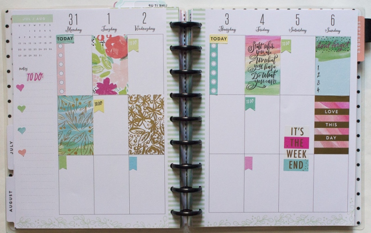 Happy Planner Weekly Spread July 31-Aug 6 | JM Creates