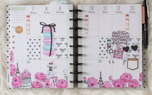 Happy Planner Weekly Pread feat. The Pink Passport | JM Creates