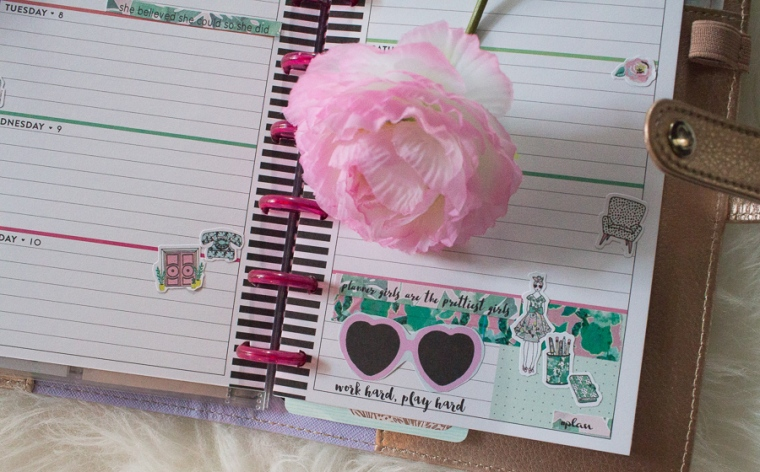 Mini Happy Planner Weekly Spread feat. The Planner Society | JM Creates