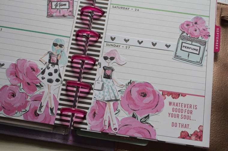 Mini Happy Planner Weekly Spread feat. The Pink Passport | JM Creates