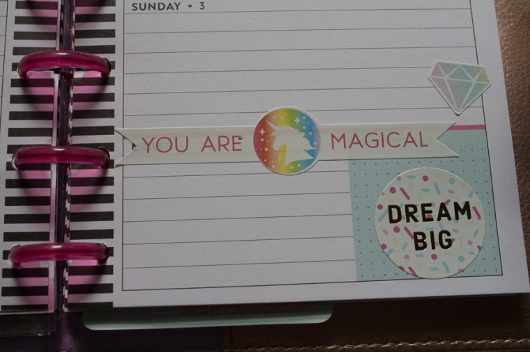 Mini Happy Planner Weekly Spread | You are magical | JM Creates
