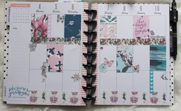 Happy Planner Weekly Spread feat. The Planner Society | JM Creates