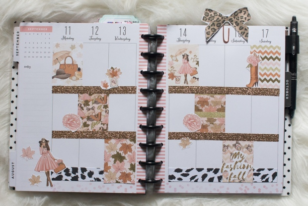 Happy Planner Weekly Spread feat. Pearls and Paris | JM Creates