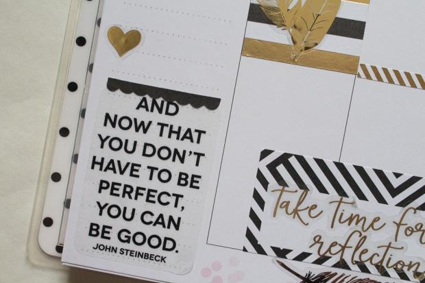 Happy Planner Weekly Spread | black & gold | JM Creates
