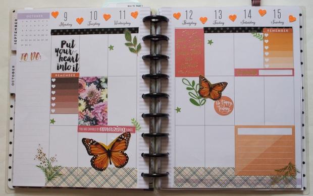 Orange Inspired Happy Planner Spread | JM Creates