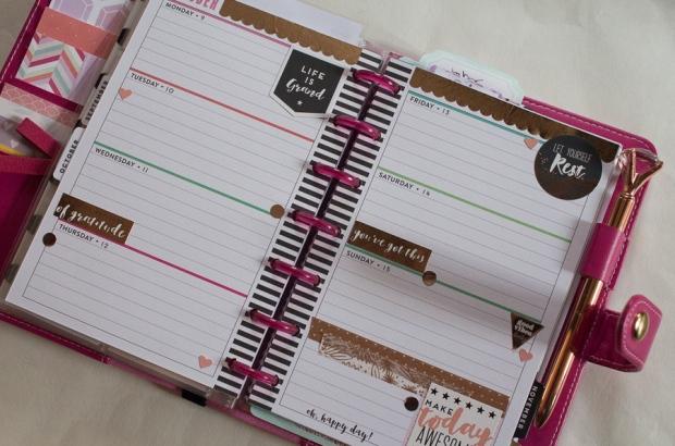 Rose Gold Inspired Mini Happy Planner Spread | JM Creates