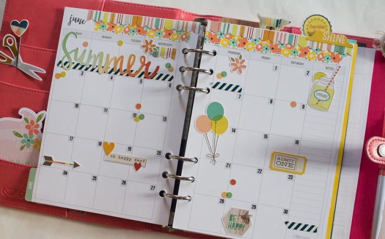 Carpe Diem Monthly Spread | JM Creates