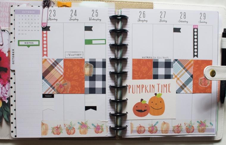 Happy Planner October Weekly Spread | JM Creates