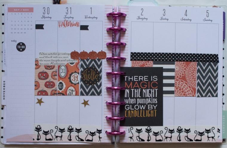 Happy Planner Weekly Spread Halloween | JM Creates