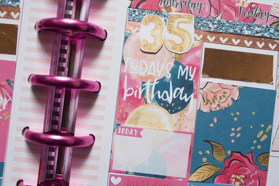 Happy Planner Birthday Spread   JM Creates Blog