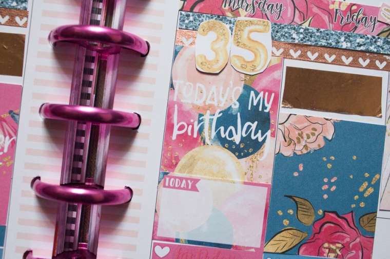 Happy Planner Birthday Spread | JM Creates Blog