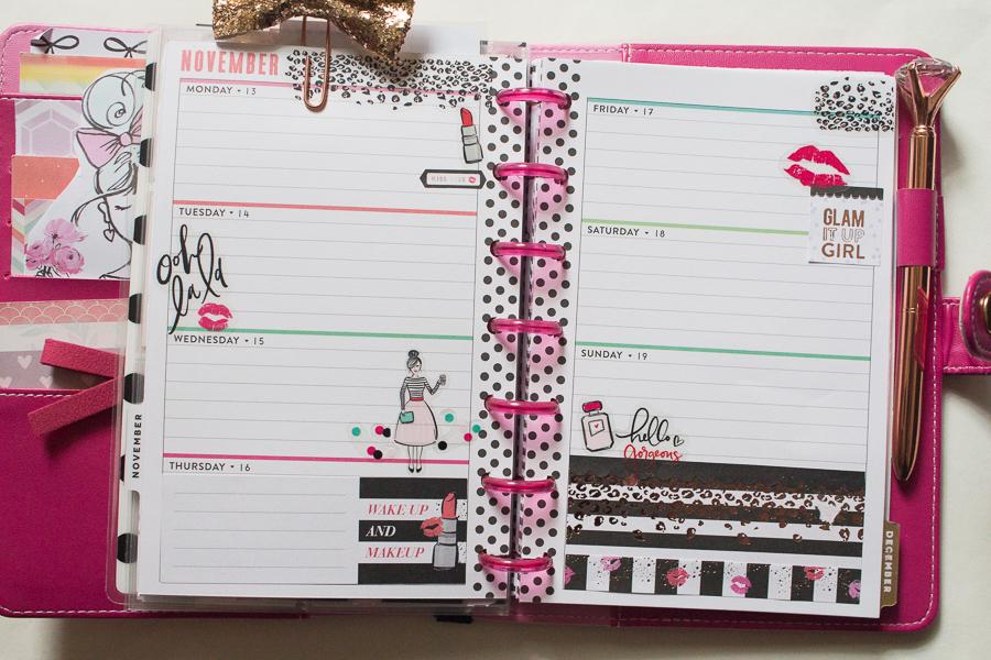 Mini Happy Planner Glam Girl Spread   JM Creates Blog