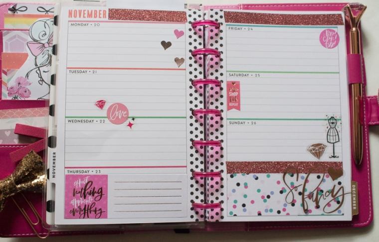 Mini Happy Planner Glam Girl Spread | JM Creates Blog