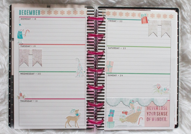 Mini Happy Planner Weekly Spread feat. Love, Charmaine | JM Creates Blog
