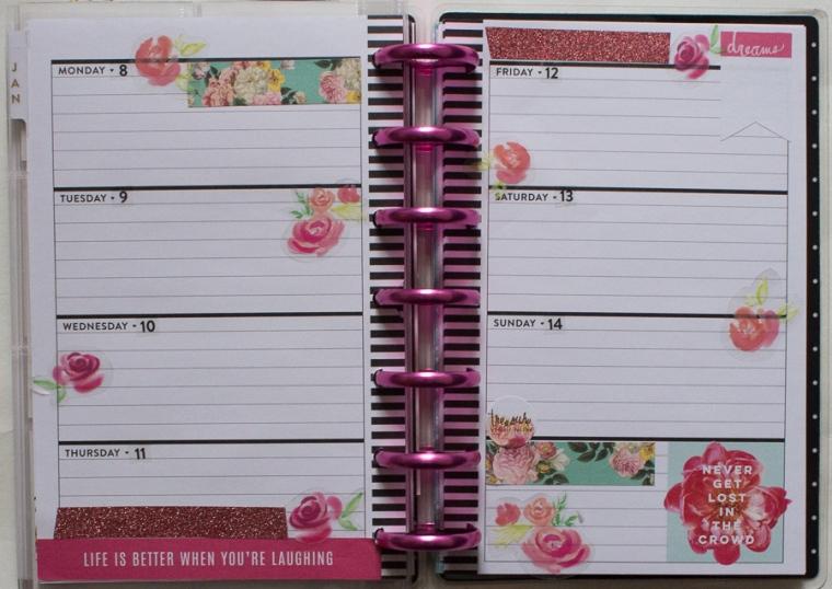 Mini Happy Planner Weekly Spread feat. Heidi Swapp | JM Creates Blog