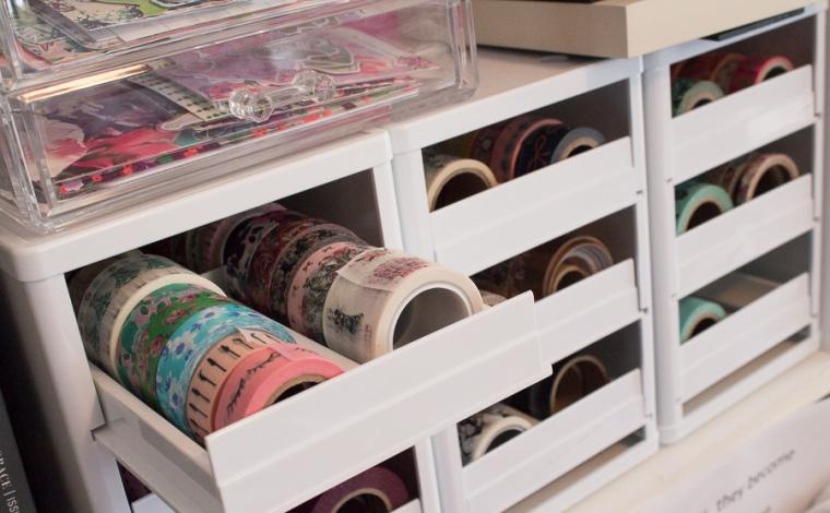 Workspace Wednesday | Washi Storage Solutions | JM Creates Blog