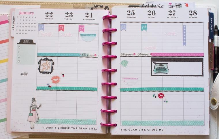 Happy Planner Weekly Spread feat. Glam Girl | JM Creates Blog