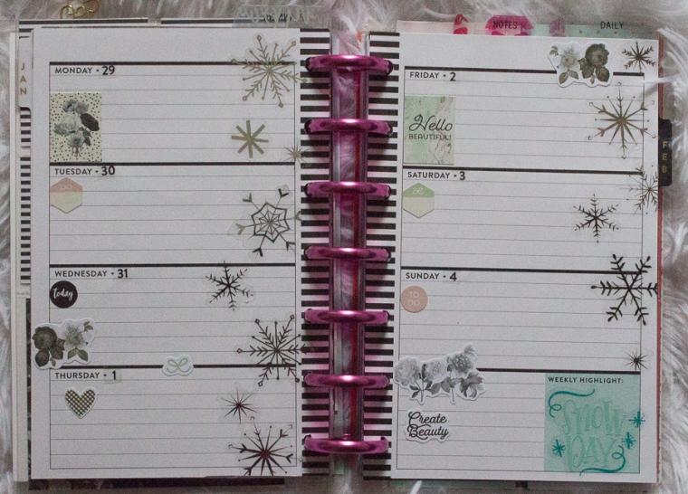Mini Happy Planner Weekly Spread | JM Creates Blog
