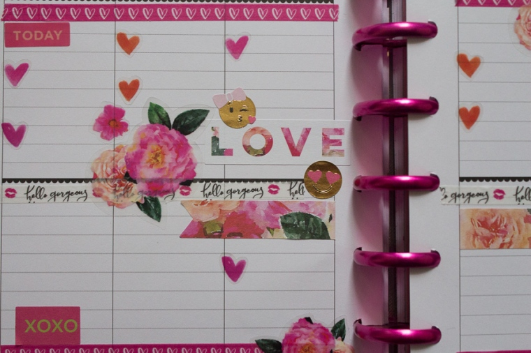 Happy Planner Weekly Spread | Valentine's Day | JM Creates Blog