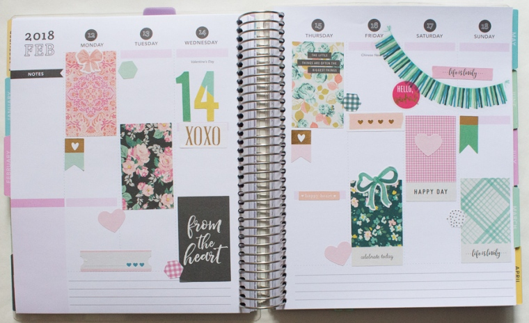 Recollections Planner | Valentine's Day | JM Creates Blog