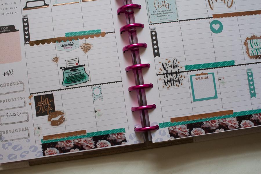 Happy Planner Weekly Spreads | JM Creates Blog