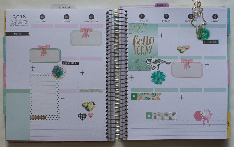 Recollections Weekly Spread | Spring Time | JM Creates Blog