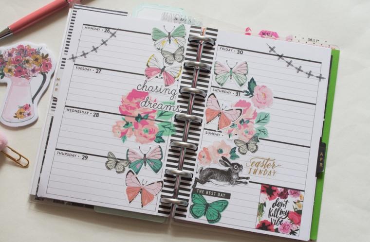 Mini Happy Planner Weekly Spread | Easter! | JM Creates Blog