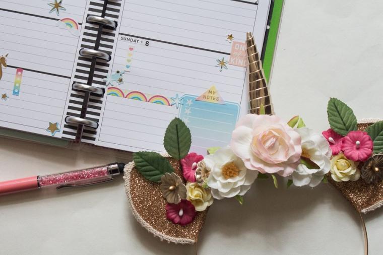 Mini Happy Planner Weekly Spread | Unicorns! | JM Creates Blog