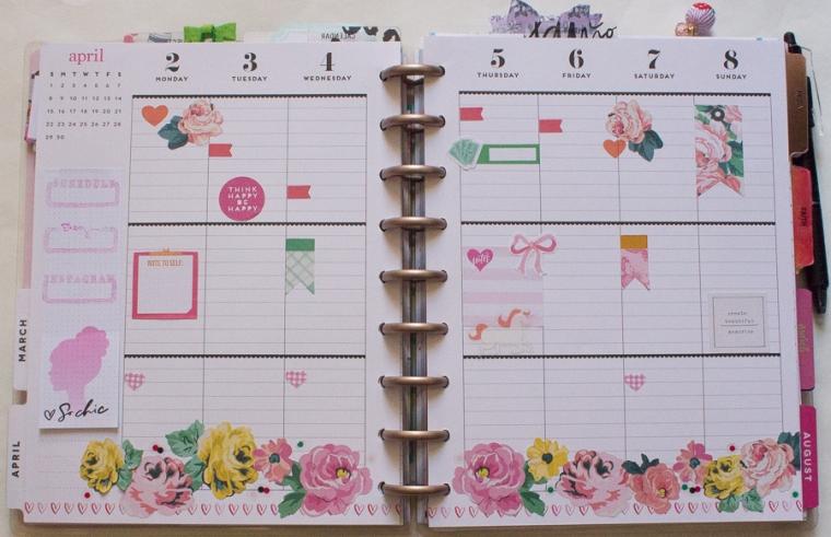 Happy Planner Weekly Spreads | April 2-8 | JM Creates Blog
