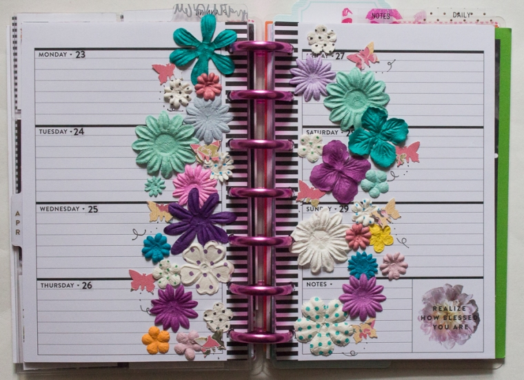 Mini Happy Planner Spread inspired by A Wishful Plan | JM Creates Blog