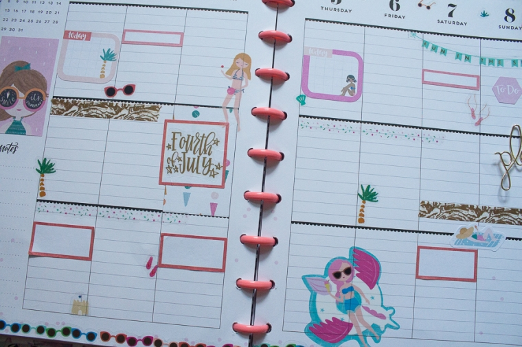 Happy Planner Weekly Spread feat. Squad Goals | Created by Jen Blog