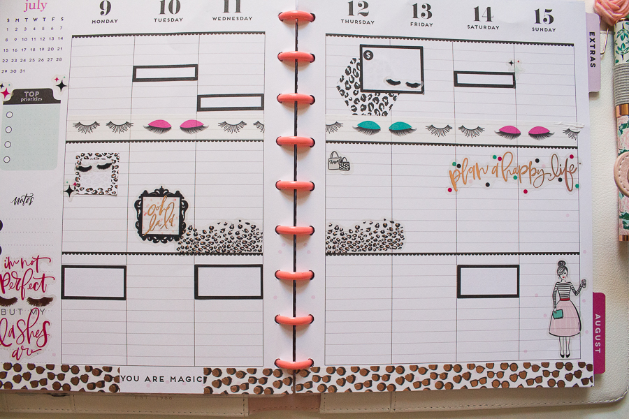 Happy Planner Weekly Spread | Created by Jen Blog