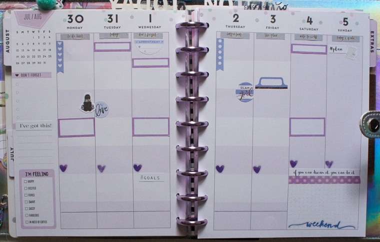 Student Happy Planner Weekly Spread | Created by Jen Blog