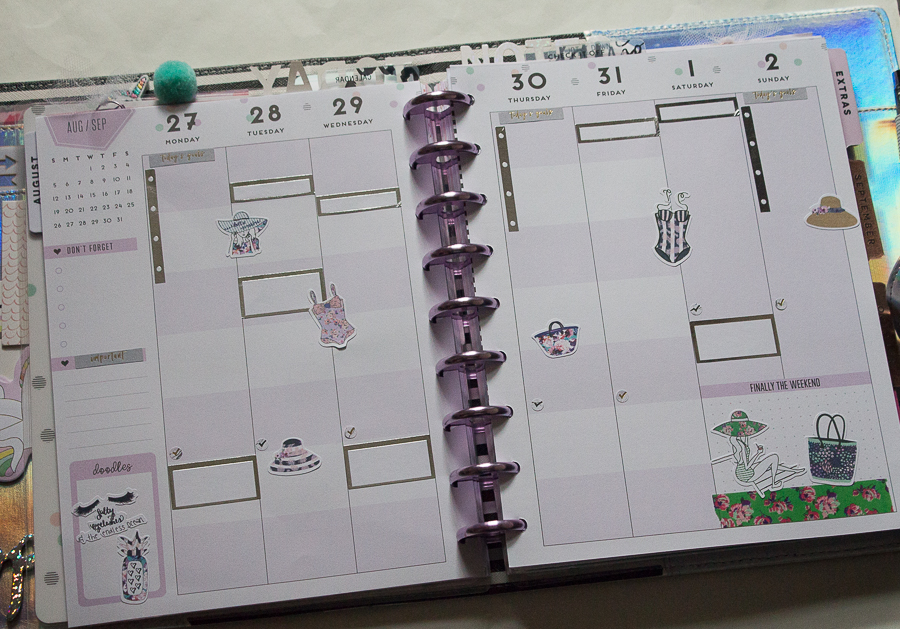 Student Happy Planner Weekly Spread feat. The Planner Society   Created by Jen Blog