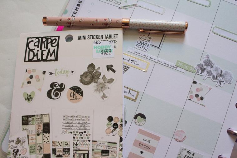 Student Happy Planner Weekly Spread feat. Carpe Diem   Created by Jen Blog