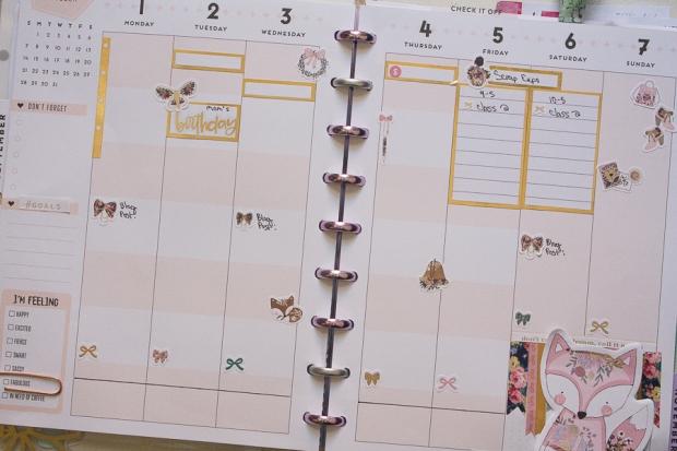 Happy Planner Weekly Spread | October 1-7