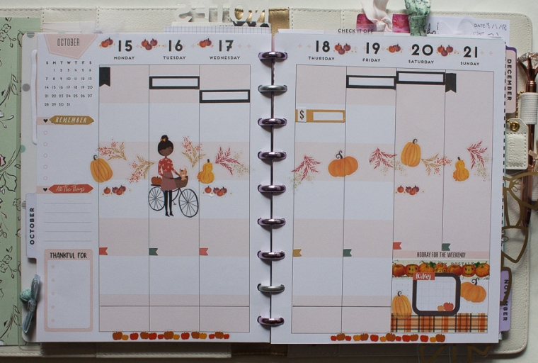 Happy Planner Weekly Spread | Fall | Created by Jen Blog