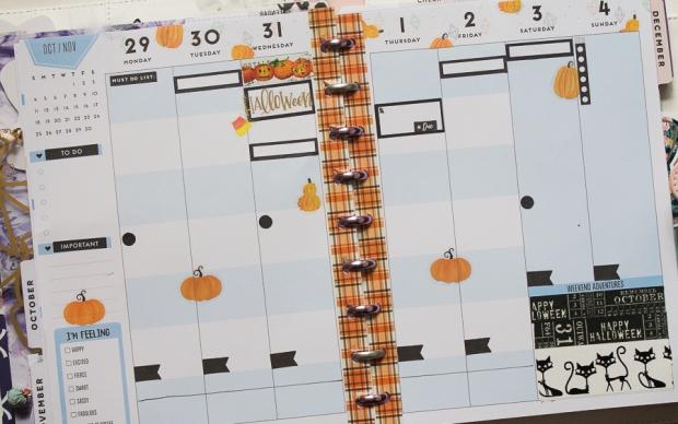 Halloween Happy Planner Weekly Spread | Created by Jen Blog