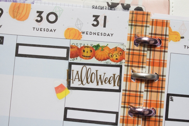 Halloween Happy Planner Weekly Spread | Created by Jen Blog