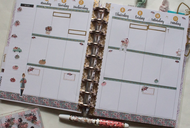 Happy Planner Weekly Spread feat. The Planner Society | Created by Jen Blog