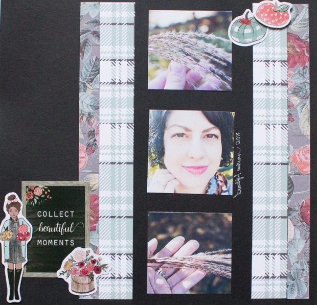 Fall Scrapbook Layout feat. The Planner Society | Created by Jen Blog